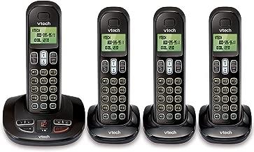 VTech CS6199-4 DECT 6.0 Cordless Phone, Black/Black, 4 Handsets (Certified Refurbished)