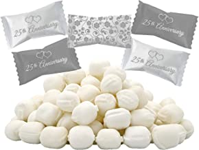 25th Anniversary Buttermints, Mint Candies, After Dinner Mints, Butter Mint Candy, Fat-Free, Individually Wrapped (110 Pie...