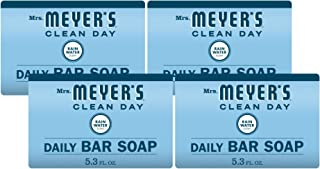 MRS. MEYER'S CLEAN DAY Bar soap, rainwater Scent, 5.3 Ounce bar (Pack of 4), 21.2 Ounce