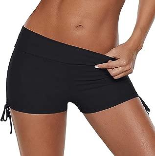 Women Boyshorts Swimming Bottom Swimsuit Tankini Bottom Stretch High Waist Swim Shorts