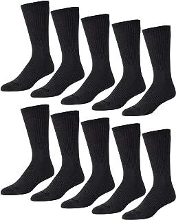 Reebok Men's 10 PK Crew Cut Basic Cushion Socks