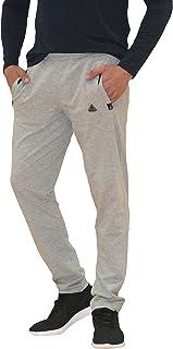 SCR SPORTSWEAR Men's Soccer Track Training Pants Athletic Sweatpants with Zipper Pockets Black Heather Grey Short Long Inseam