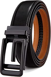 Men Belt-Leather Ratchet Belt for Men Dress 1 3/8