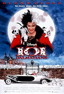 101 Dalmatians Disney Original Double Sided Rolled 27x40 Movie Poster 1996