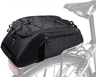 Bike Bag Bike Trunk Bag Rack Bags Rear Panniers Bag (for Bicycle Cargo Rack Saddle Bag Shoulder Bag Laptop Pannier Rack Bi...