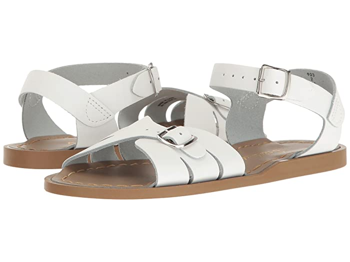 Salt Water Sandal by Hoy Shoes  Classic (Little Kid) (White) Girls Shoes