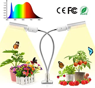 Grow Light for Indoor Plants, Bevice Full Spectrum LED Plant Lamp Auto ON&Off with 3/6/12H Timer and Memory Function, Light Intensity Adjustable, for House Plants Seedling Growing Blooming Fruiting