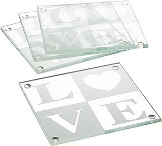 love glass coasters wedding favors