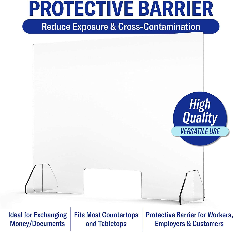 Mamparas para oficinas Protector Ligero y portátil,Cubierta Protectora de plexiglás acrílico Transparente de 30cm-150cm (12in-59in),para Ventanas de mostrador y de transacción,60 * 60cm/24 * 24in: Amazon.es: Deportes y aire libre