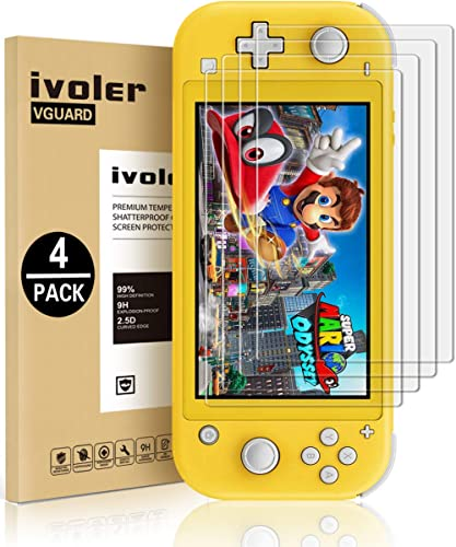 [4 Pack] Screen Protector Tempered Glass for Nintendo Switch Lite, iVoler Transparent HD,High Definition,Clear Anti-S...