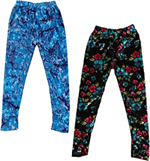 Indistar Kids Velvet /& Embossed Multicolor Leggings Combo Pack of 2