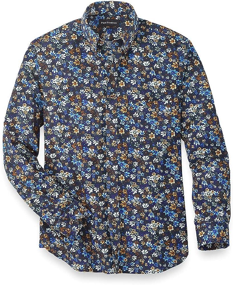 Paul Fredrick Men's Easy Care Cotton Floral Casual Shirt