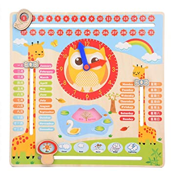Small Foot 4765 Date//Time and Season Learning Board