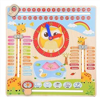 Barnkalender Lärande klocka Leksak Lärande leksak Tidig utbildning Gåva Tid Datum Säsong Väder