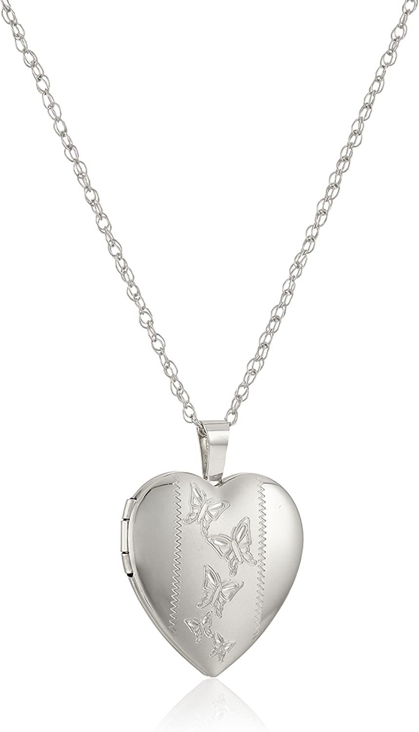 Sterling Silver Hand Engraved Floral Pendant with Satin an Max 41% OFF Credence Heart