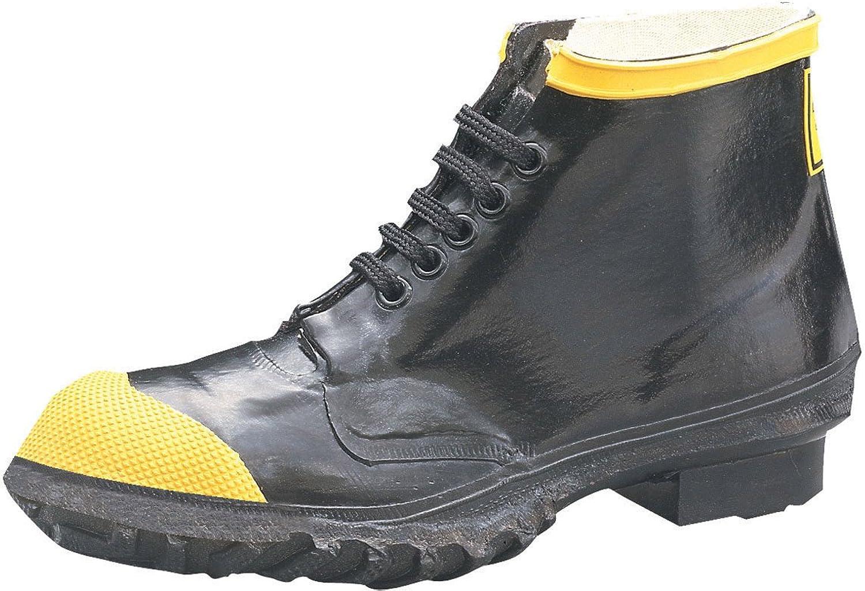 Ranger 6  Heavy-Duty Men's Rubber Steel Toe Work shoes, Black & Yellow (R1141)