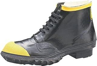 """Ranger 6"""" Heavy-Duty Men's Rubber Steel Toe Work Shoes, Black & Yellow (R1141)"""