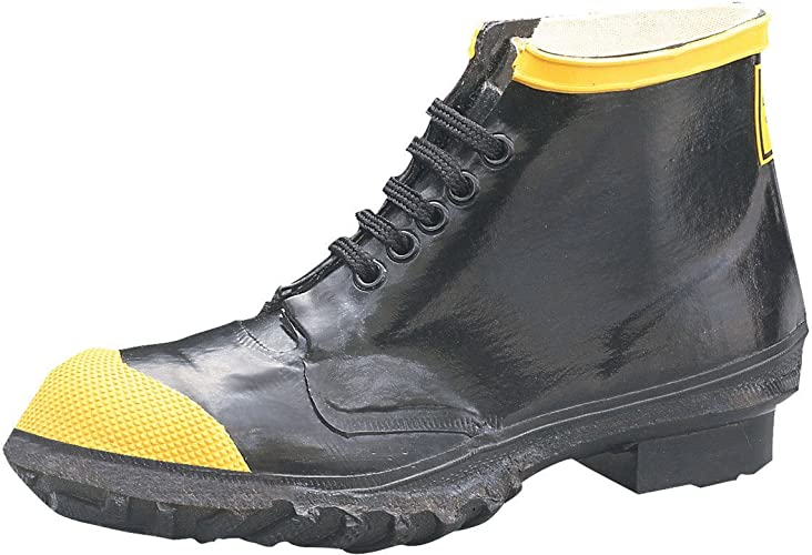 Honeywell Ranger 6  Heavy-Duty Men's Rubber Steel Toe Work chaussures, noir & jaune