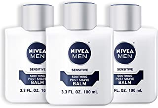 NIVEA Men Sensitive Post Shave Balm – Soothes and Moisturizes Skin After Shaving..