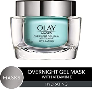 Face Mask Gel by Olay Masks, Overnight Facial Moisturizer with Vitamin E and Hyaluronic Acid for Hydrating Skin, 1.7 Fl Ounce