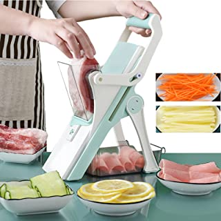 Vegetable and Meat Cutter 8 in 1 with 5 Dicing Blades Slicer Shredder Fruit Peeler Potato Cheese Drain Grater Chopper Kitc...