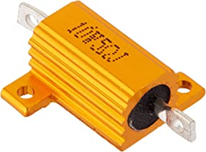 Uxcell a14010900ux0149 2 Piece Yellow Aluminum Shell Clad Wirewound Resistor, 5 Ohm 10 W