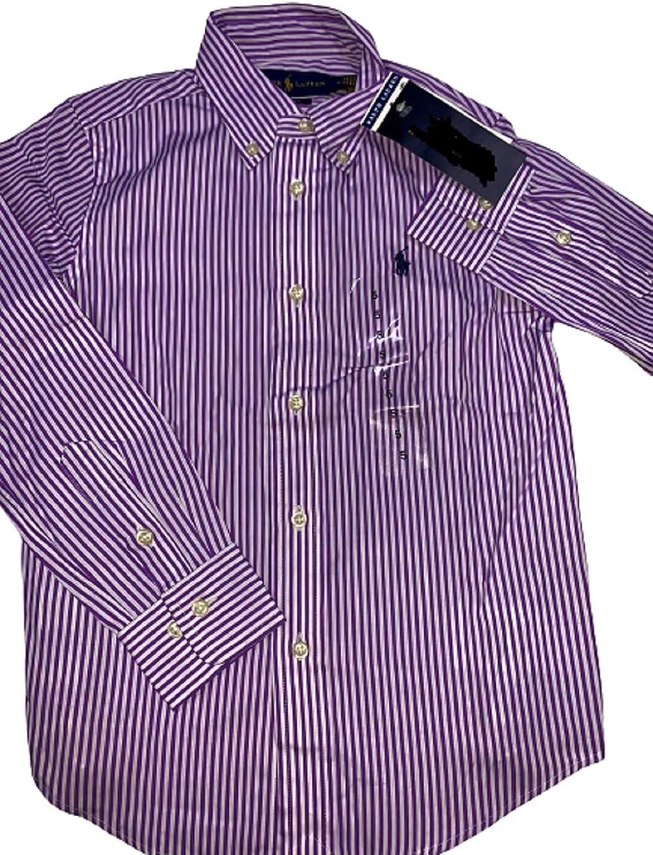 Polo Ralph Lauren Purple Boys Polo Stripe Shirt, US 5