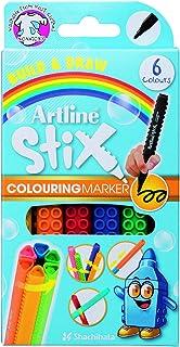 Artline Stix Colouring Marker 6Pk