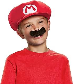 Disguise Inc - Super Mario Brothers Mario Kids Hat & Mustache