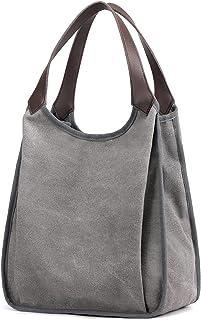 Travistar Schultertasche Damen Handtasche Groß Canvas Vintage Damen Umhängetaschen, Segeltuch Shopper Tasche Henkeltasche ...