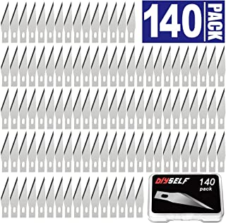 140 PCS Exacto Knife Blades, High Carbon Steel #11 Refill Exacto Art Blades Cutting Tool with Storage Case for Craft, Hobby, Scrapbooking, Stencil