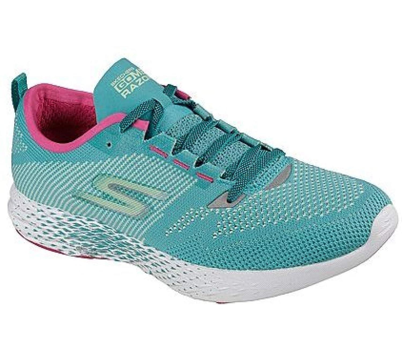 SKECHERS(スケッチャーズ) レディース 女性用 シューズ 靴 スニーカー 運動靴 Go Meb Razor 2 - Turquoise/Pink [並行輸入品]