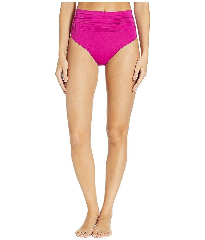 4febe0a0c9569 LAUREN Ralph Lauren Beach Club Solids High-Waist Bottom (Plumeria) Women