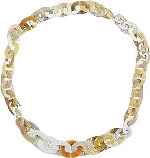 Womens Handmade Buffalo Horn Fashion Oval Long Chain Necklaces
