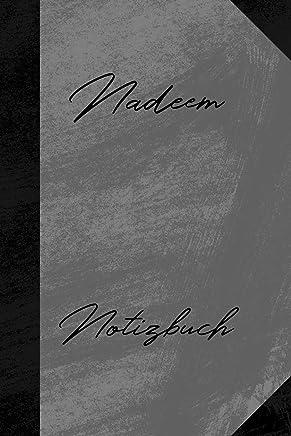 Nadeem Notizbuch: Kariertes Notizbuch mit 5x5 Karomuster für deinen Vornamen