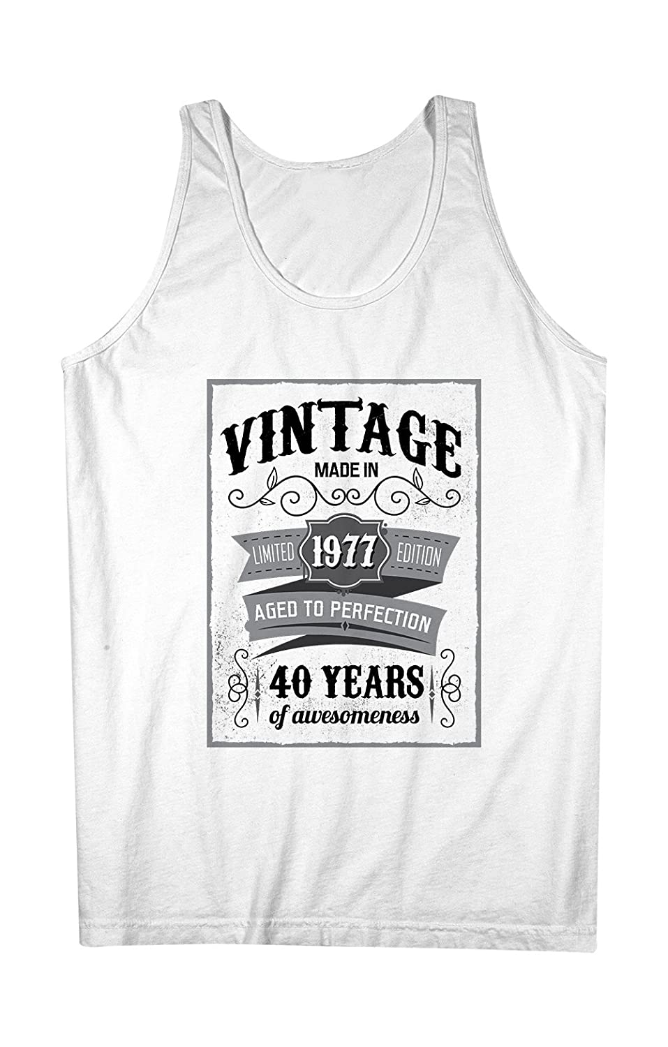 Vintage Made In 1977 40 Years お誕生日 男性用 Tank Top Sleeveless Shirt