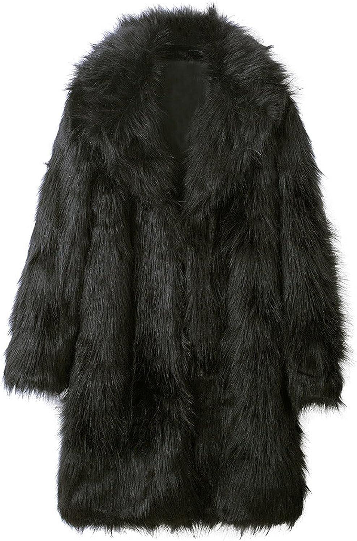 FORUU Long Coat Men 2021 Winter Fleece Jacket Warm Thickening Long Coat Plus Size Elegant Outwear Cardigan Overcoat
