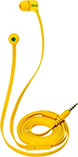 Trust Duga in-Ear Headphones with Flat Tangle Free Cable and Built-in Microphone - Yellow
