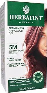 Herbatint, Permanent Haircolor Gel, 5M, Light Mahogany Chestnut, 4.56 fl oz (135 ml)