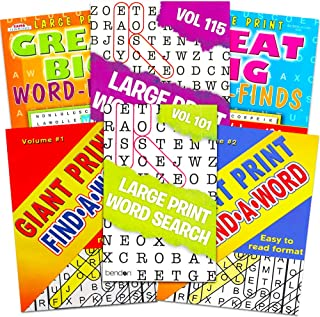 Title Large Print Word Search Books for Adults Super Set — 6 Jumbo Word Find Puzzle..