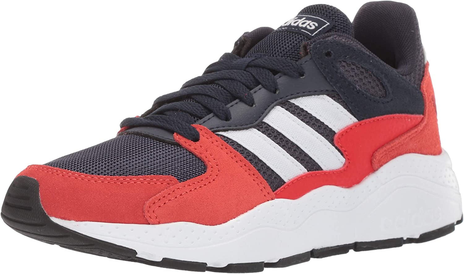 adidas Unisex-Kid's Chaos Sneaker, Trace Blue/White/Active Red, 5.5 M US Big Kid