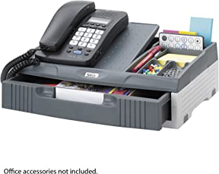 Safco Products 216BL Onyx Mesh Telephone Stand with Drawer Plastic Charcoal