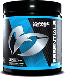 Sponsored Ad - MUSCLE FEAST® Vegan Essential Amino Acid Powder, Keto Friendly, Sugar Free, Post Workout Recovery and Intra...