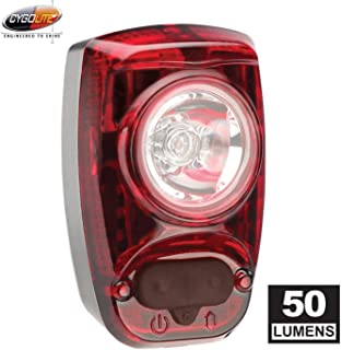 CYGOLITE Hotshot SL– 50 Lumen Bike Tail Light– 6 Night & Daytime Modes– User Tuneable Flash Speed– Compact Design– IP64 Wa...