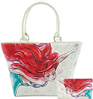 The Little Mermaid Ariel Faux Leather Tote Bag and Wallet Set