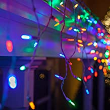 multicolored icicle lights