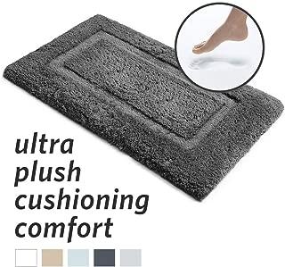 MICRODRY Silky SoftLoft Memory Foam Bath Mat with GripTex Skid-Resistant Base, 21x34, Charcoal