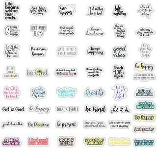 50Pcs Reward Motivational Decal Stickers for Students,Teachers and Company Employees,Waterproof Durable Trendy Vinyl Laptop Decal Stickers Pack for Water Bottles, Computer, Travel Case