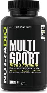 NutraBio Multisport for Men – Multi-Vitamin and Multi-Mineral Supplement (120 Vegetable Capsules)