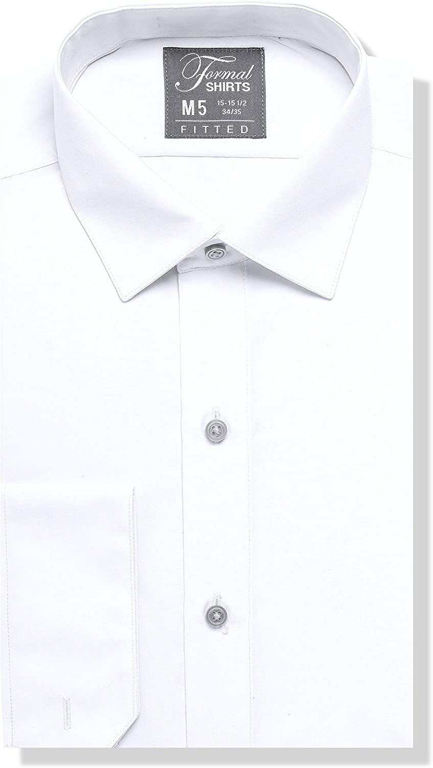 Luxe Popular Microfiber Cheap mail order specialty store Men's Fitted Spread St Collar Shirt Dress -
